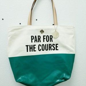"Kate Spade ""Par for the Course"" Canvas Tote Bag"